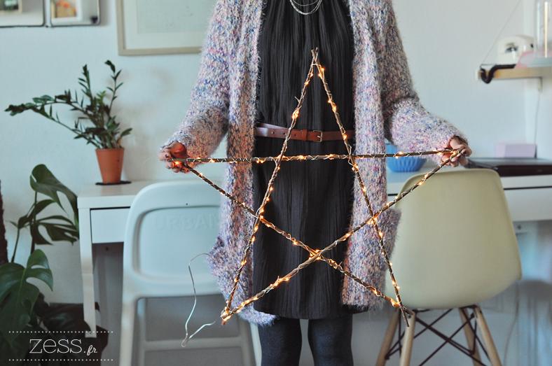 Fabriquer une etoile lumineuse tutoriel diy for Tableau de noel a fabriquer