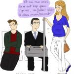 femme enceinte métro