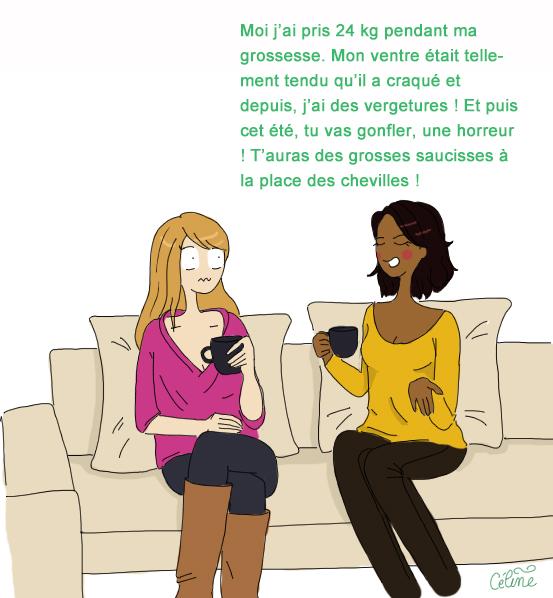 annonce grossesse à une copine