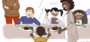 Repas avec les enfants