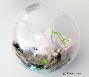 boule transparente deco