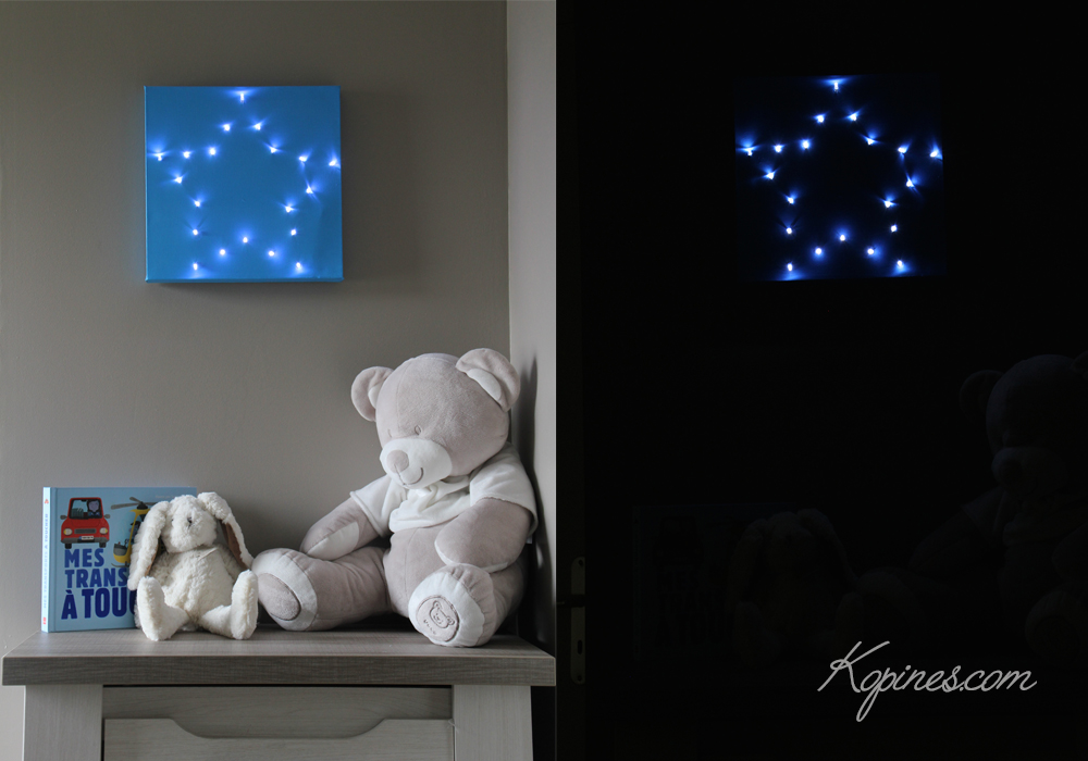 cr ation facile d 39 un tableau lumineux toile led. Black Bedroom Furniture Sets. Home Design Ideas