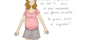 dessin femme enceinte