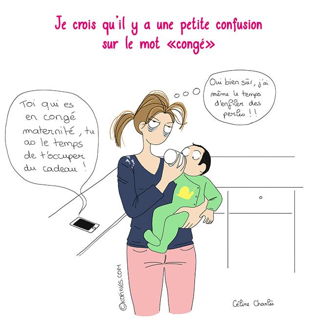 Le cong maternit vu par les autres les bd kopines - Couche maternite pour maman ...