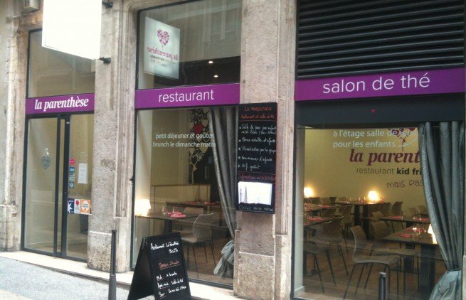 vitrine restaurant la parenthese