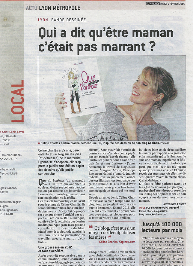 Article céline charlès Progrès