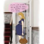 Femme enceinte et ascenseur