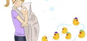 Comment préparer le bain de bébé