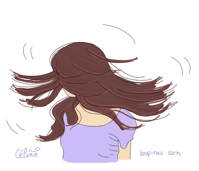 Beaux cheveux enceinte