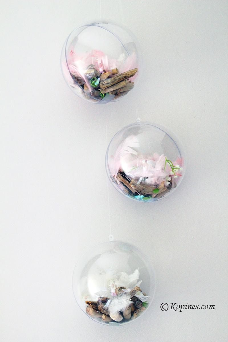 idee deco boule transparente