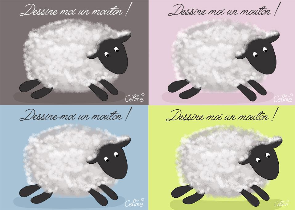 affiches gratuite dessine moi un mouton