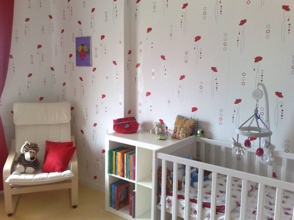 La chambre rouge et blanche de Yelin - idées décoration