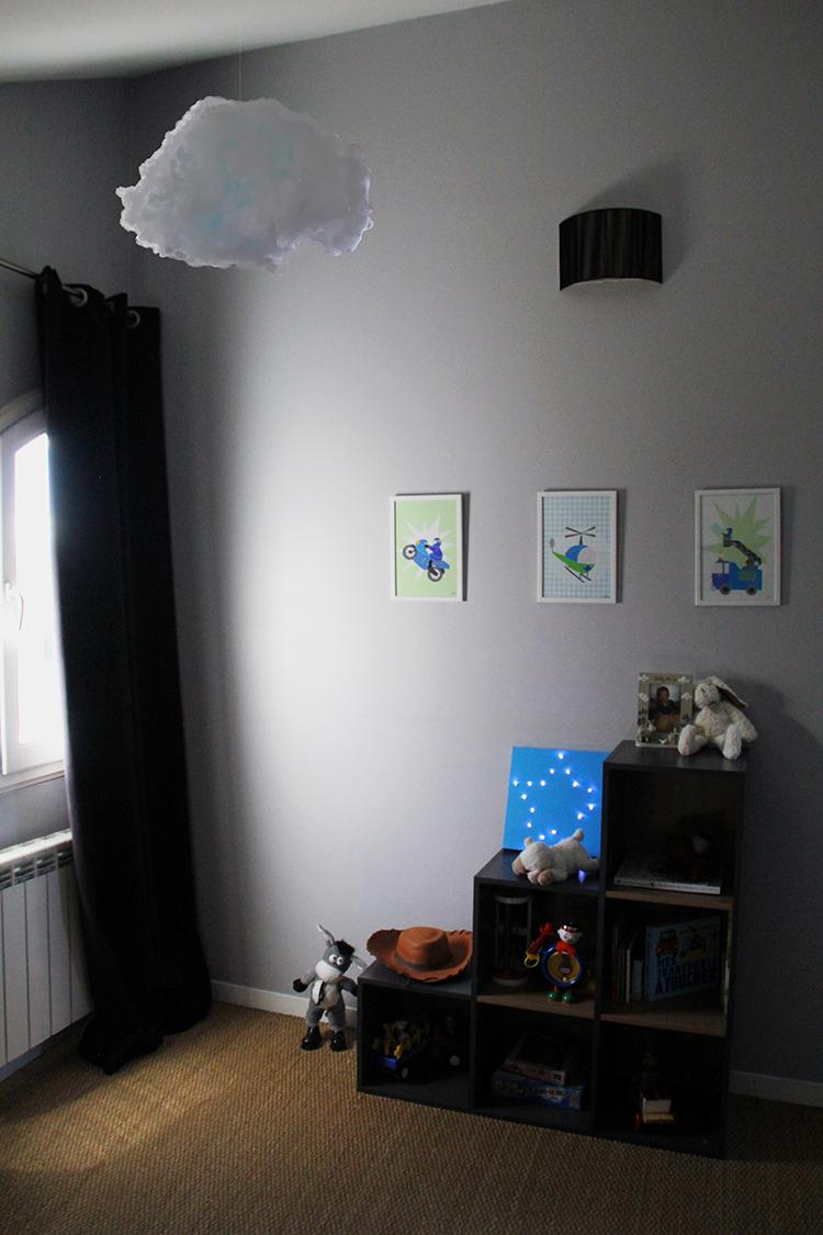 chambre suspension nuage coton