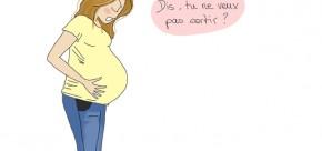 Femme qui attend son accouchement avec impatience !