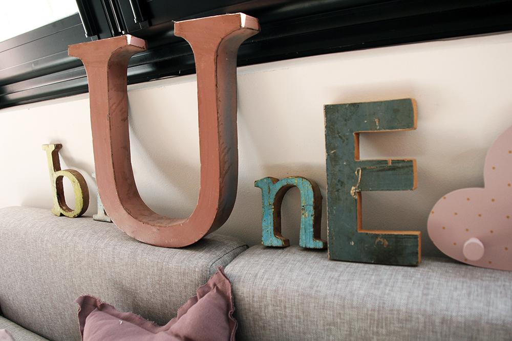 Lettres Vintage Brune