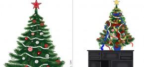 le sapin avant et après enfant