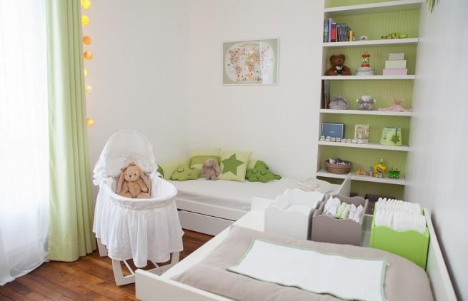Inspiration d co pour une chambre mixte de b b - Peinture chambre bebe mixte ...