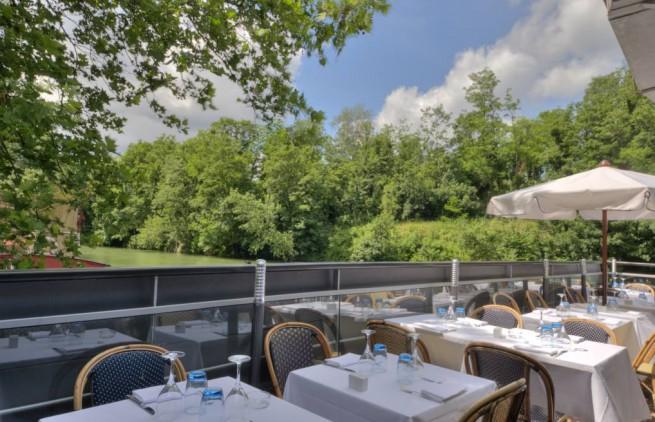 jolie vue du restaurant river café